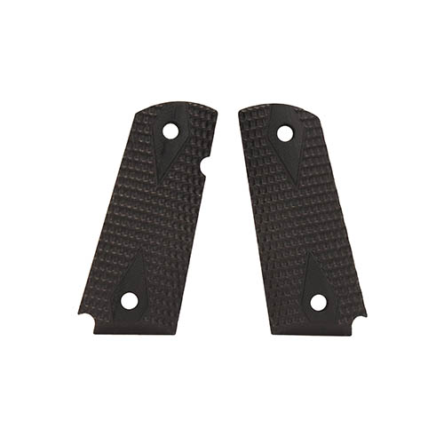 Hogue Hogue Colt & 1911 Officer's Grips Pirahna G-10 Solid Black 43139
