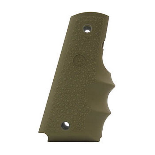 Hogue Hogue Colt Government Rubber Grip with Finger Grooves Desert Tan 45003