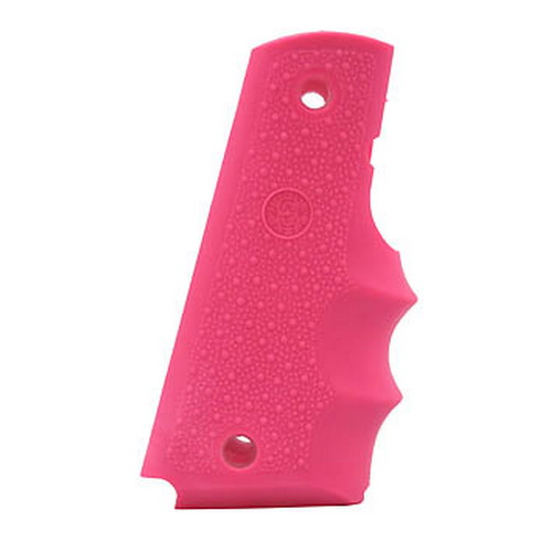 Hogue Hogue Colt Government Rubber Grip with Finger Grooves Pink 45007
