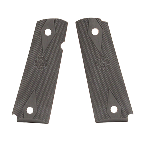 Hogue Hogue Colt Government Rubber Grip Panels, Checkered with Diamonds Pewter 45012