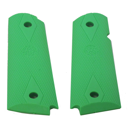 Hogue Hogue Colt Government Rubber Grip Panels, Checkered with Diamonds Zombie Green 45015