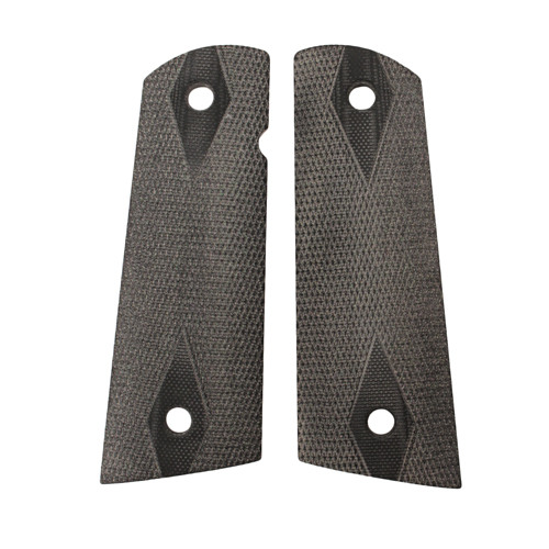 Hogue Hogue Colt & 1911 Government S&A Mag Well Grips Checkered G-10 Solid Black 45159