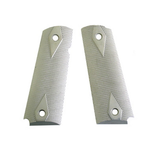 Hogue Hogue Extreme Series Grips Checkered Aluminum, Clear Anodized, Government 45174
