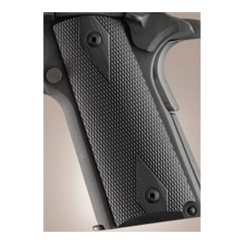 Hogue Hogue Colt & 1911 Officer's Grips Checkered G-10 Solid Black 43179