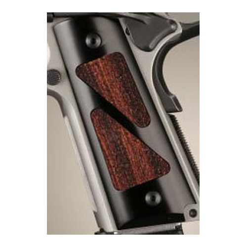 Hogue Hogue Colt & 1911 Government Grips Hybrid Aluminum Brushed Gloss Black Coco Bolo Insert 45186