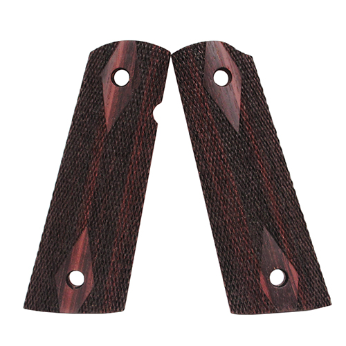 Hogue Hogue Colt & 1911 Government S&A Mag Well Grips Rosewood, Checkered 45971