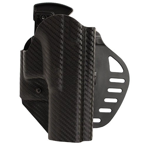 Hogue Hogue Powerspeed ARS Stage 1 CarbonFiber Weave Hoslter C1, Glock 17, 22, 31, 37, Right Hand 52817