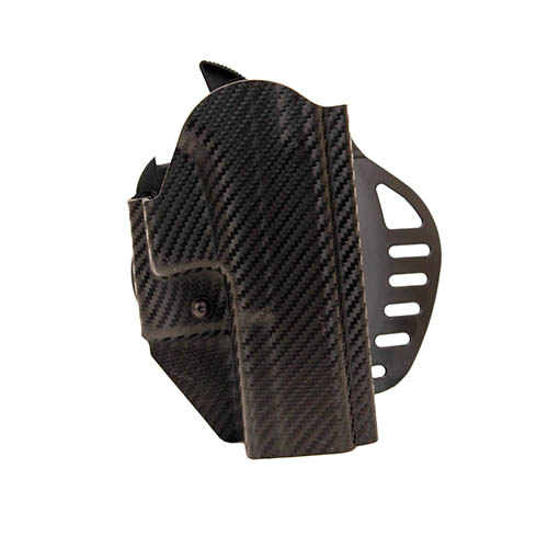 Hogue Hogue Powerspeed ARS Stage 1 CarbonFiber Weave Hoslter C10, Glock 20, 21, Right Hand 52820
