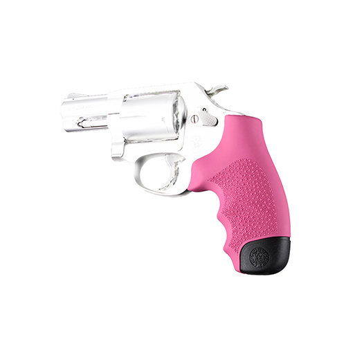 Hogue Hogue Rubber Grip for S&W S&W J Frame Round Butt Monogrip Pink 60007