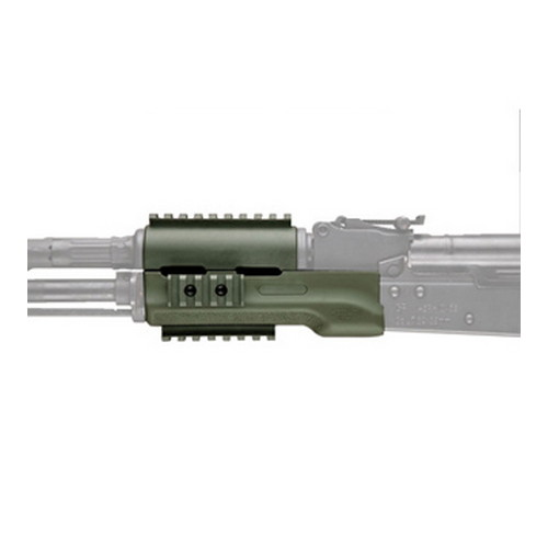 Hogue Hogue AK-47 Overmolded Forend Standard, Rubber Grip Area, Olive Drab Green 74204