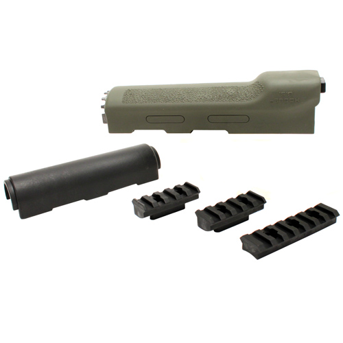 Hogue AK-47 Overmolded Forend Yugo Style, Rubber Grip Area, Olive Drab