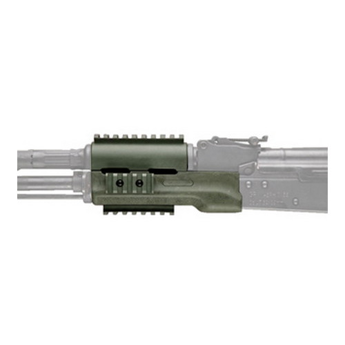 Hogue Hogue AK-47 Overmolded Forend Standard, Rubber Grip Area, Ghillie Green 74804
