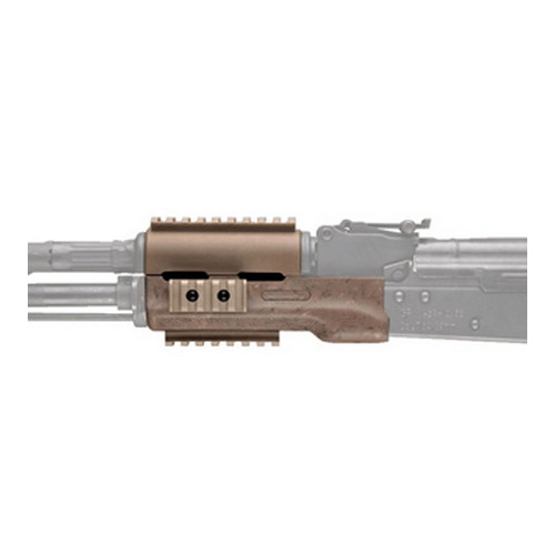 Hogue Hogue AK-47 Overmolded Forend Standard, Rubber Grip Area, Ghillie Tan 74904