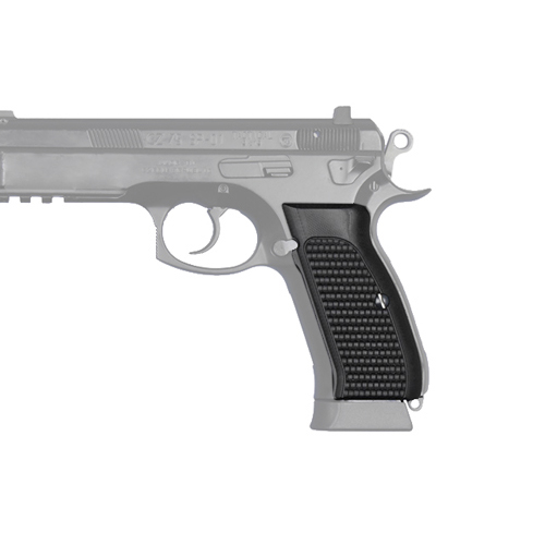 Hogue Hogue CZ-75/CZ-85 Grips Piranha, G-10 Solid Black 75139