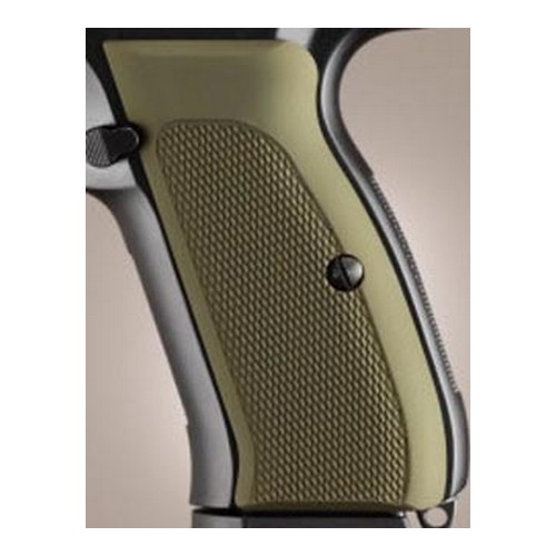 Hogue Hogue CZ-75/CZ-85 Grips Checkered Aluminum Matte Green Anodized 75171
