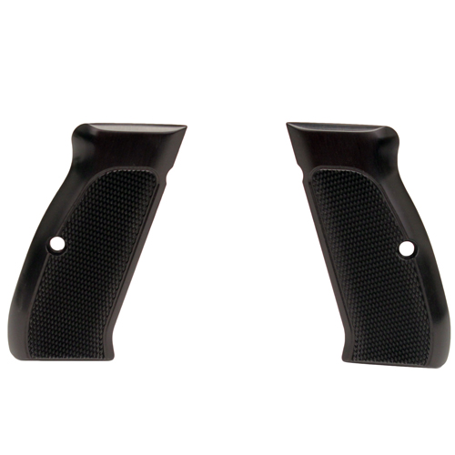 Hogue Hogue CZ-75/CZ-85 Grips Checkered Aluminum Brushed Gloss Black Anodized 75176