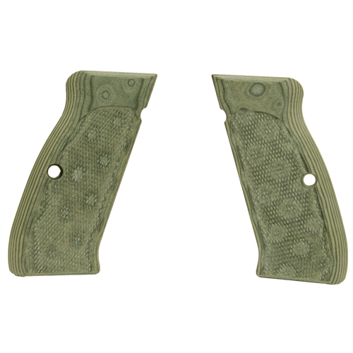 Hogue Hogue CZ-75/CZ-85 Grips Checkered G-10 G-Mascus Green 75178