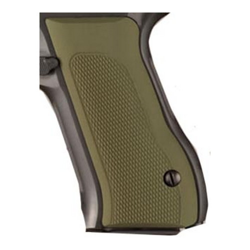 Hogue Hogue Baby Eagle 40+ Grips Checkered Aluminum Matte Green Anodized 76171