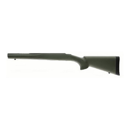 Hogue Ruger 77 MKII Short Action Overmolded Stock Heavy Barrel, Full Bed Block, Olive Drab Green