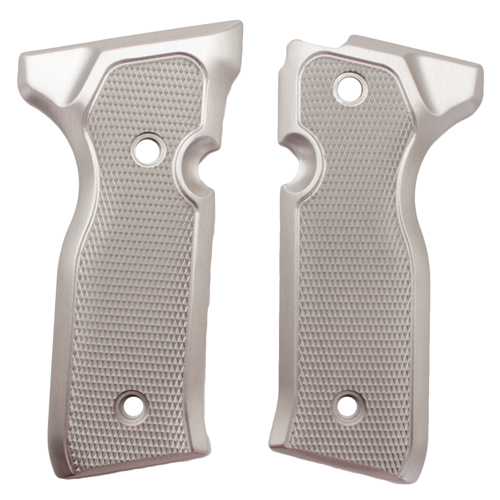 Hogue Hogue Beretta Cougar 8000+ Grips Checkered Aluminum Brushed Gloss Clear Anodized 91175