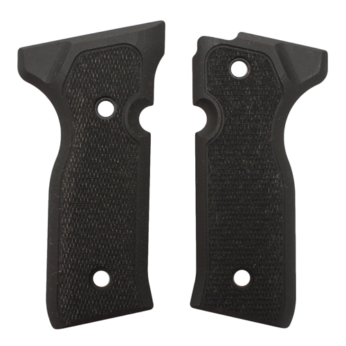 Hogue Beretta Cougar 8000+ Grips Checkered G-10 Solid Black