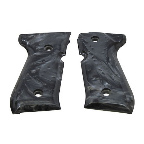 Hogue Beretta 92 Polymer Grip Panels Black Pearl