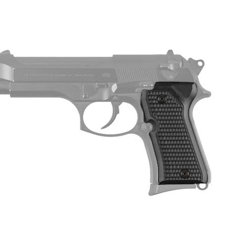 Hogue Beretta 92 Compact Grips Piranha G-10 Solid Black