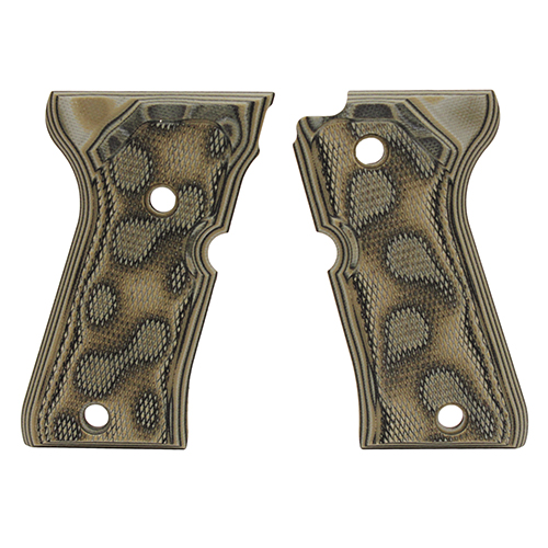 Hogue Beretta 92 Compact Grips Checkered G-10 G-Mascus Green