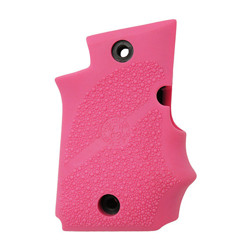 Hogue Hogue Sig P938 Rubber Grip Ambidextrous, w/Finger Grooves Pink 98087