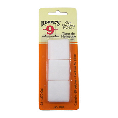 Hoppes Hoppes Gun Cleaning Patches No 2, 22 to 270 Cal, 60 pack 1202