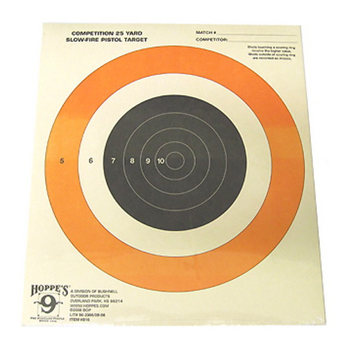 Hoppes Pistol Target 25yd Slow Fire B16 (20 pack)