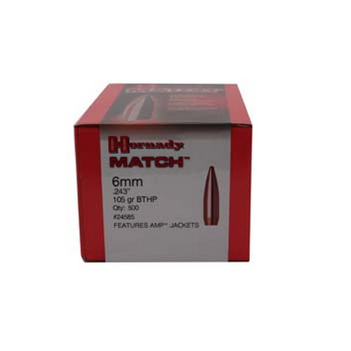 Hornady 6mm Bullets 105gr BTHP Match (Per 500)