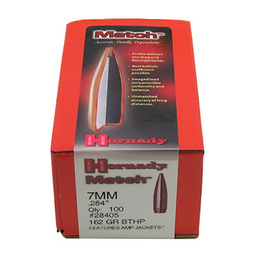 Hornady Hornady 7mm Bullets 162 Gr BTHP Match/100 28405
