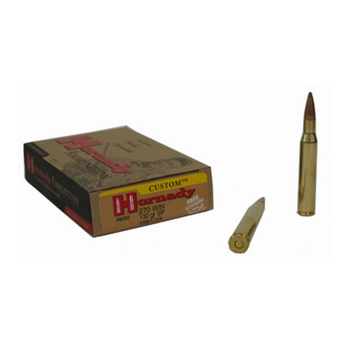 Hornady Hornady 270 Winchester by 270 Win, 130 Grain, SP, (Per 20) 8055
