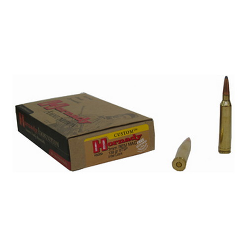 Hornady 7mm Remington Magnum by Hornady 7mm Remington Mag, 139 Gr, BTSP, (Per 20)