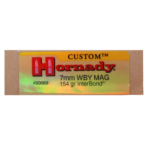 Hornady Hornady 7mm Weatherby Magnum by 154 Gr, InterBond, (Per 20) 80689