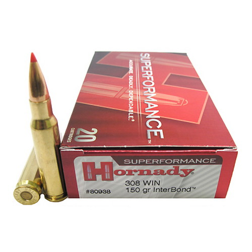 Hornady 308 Winchester by Hornady Superformance 150 Gr, InterBond/20