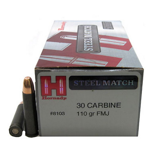 Hornady 30 Carbine 110gr FMJ Steel Match /50