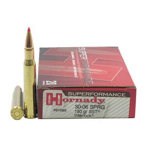 Hornady Hornady 30-06 Springfield by Superformance 150gr SST (Per 20) 81093