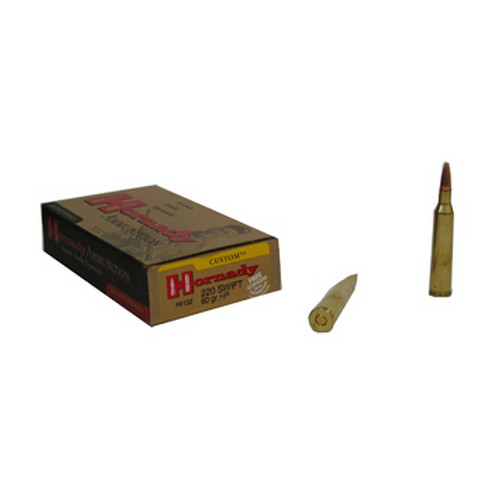 Hornady Hornady 220 Swift Ammunition by 60 Grain HP (Per 20) 8122