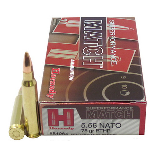 Hornady Hornady 5.56 NATO by 75gr BTHP Superformance-Match /20 81264