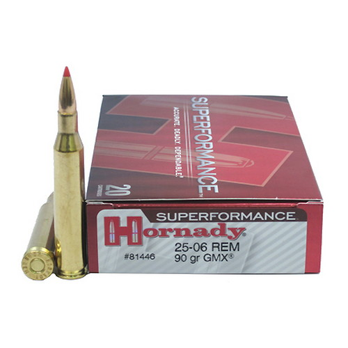 Hornady Hornady 25-06 Remington by Superformance, 90gr GMX (20 Rounds/Box) 81446