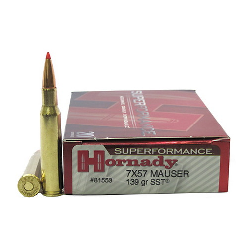 Hornady Hornady 7x57 Ammunition by Superformance 139 GR SST (Per 20) 81553