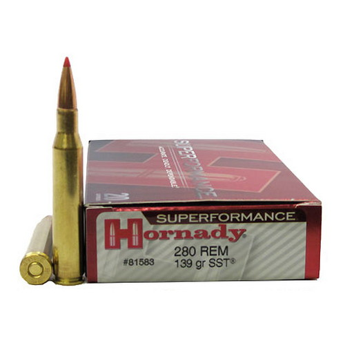 Hornady 280 Remington Ammunition by Hornady Superformance 139gr SST (Per 20)
