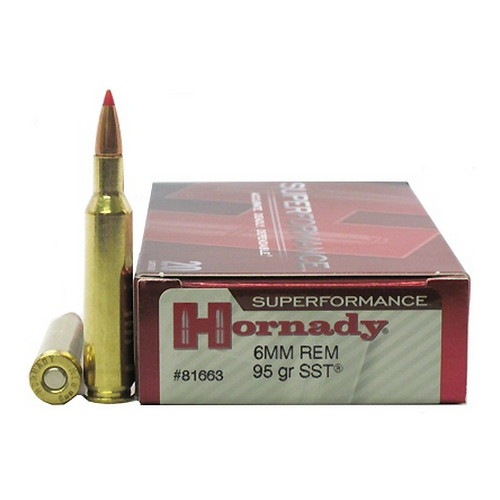 Hornady 6mm Remington by Hornady Superformance, 95gr SST (Per 20)