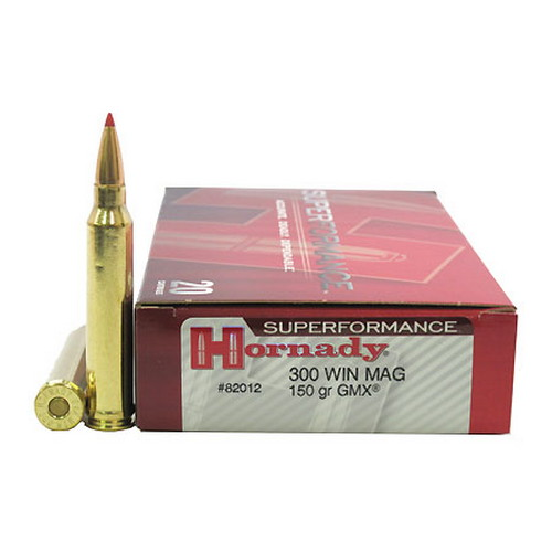 Hornady Hornady 300 Winchester Magnum by 150gr GMX (Per 20) Superformance 82012