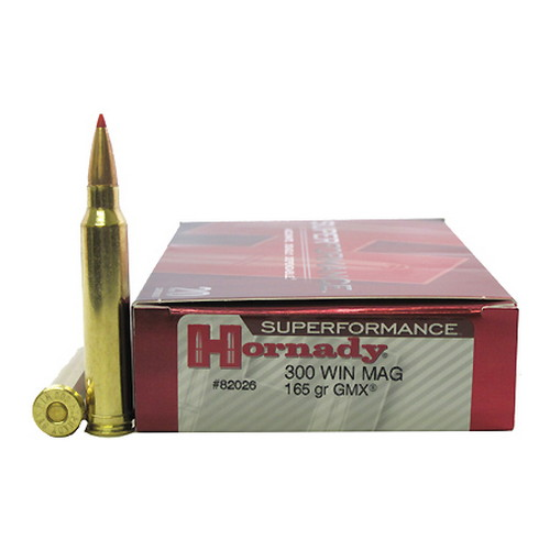 Hornady Hornady 300 Winchester Magnum by Superformance 165gr GMX (Per 20) 82026