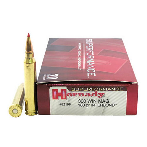Hornady Hornady 300 Winchester Magnum by 180 Gr Interbond, Superformance/20 82198