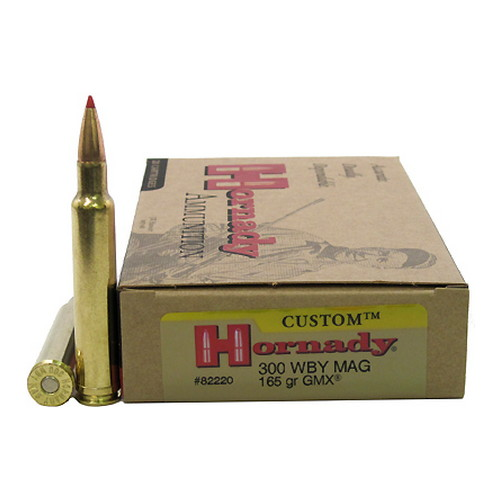 Hornady Hornady 300 Weatherby Magnum by 165 Grain, GMX, (20 Rounds Per Box) 82220