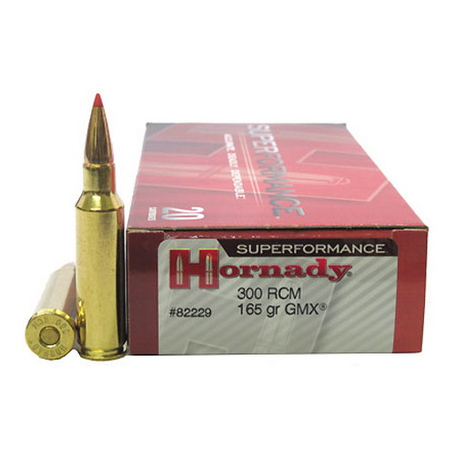 Hornady 300 Ruger Compact Magnum Superformance 165gr GMX (Per 20)